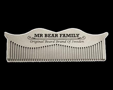 Mr Bear Family: Ξύλινη χτένα για το μούσι, σε λευκή απόχρωση. ΑΠΟΚΛΕΙΣΤΙΚΗ ΔΙΑΘΕΣΗ: COPAD