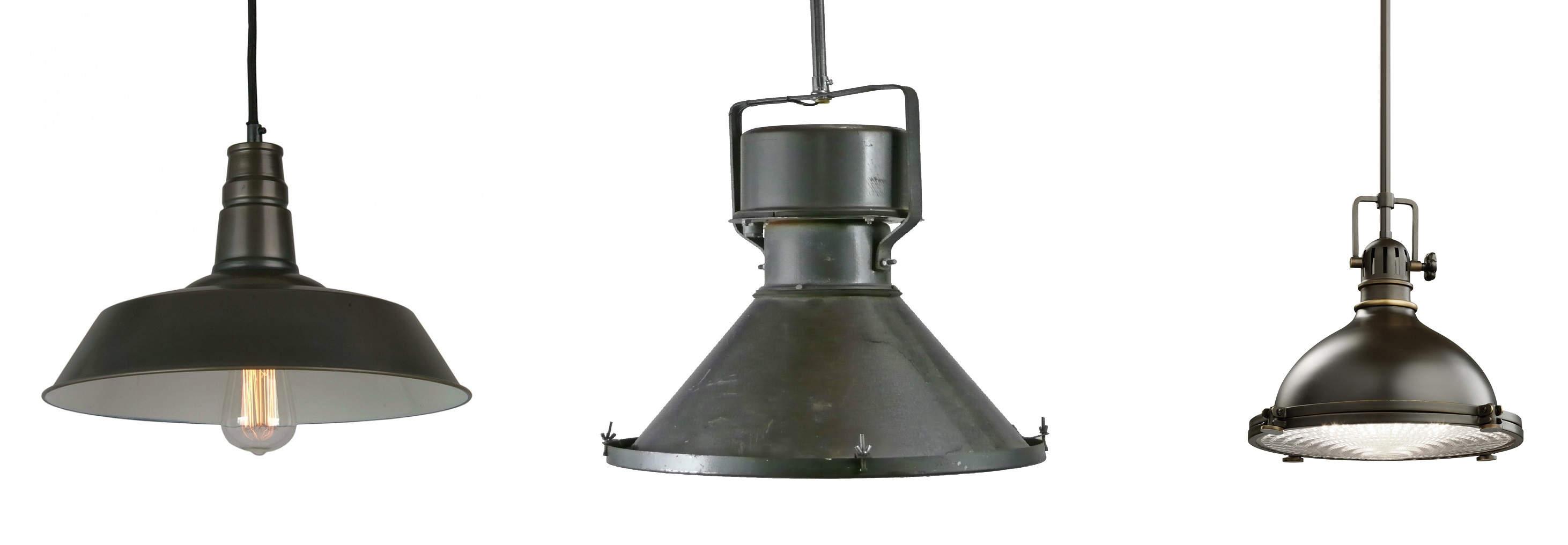 INDUSTRIAL LAMPS: Λάμπες σε βιομηχανικό σχεδιασμό για τοποθέτηση στο ταβάνι. Προσδίδουν ιδιαίτερο ύφος και χαρακτήρα σε οποιοδήποτε μπαρμπεράδικο.