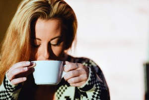 cold weather beautiful woman coffee cup full hd wallpaper