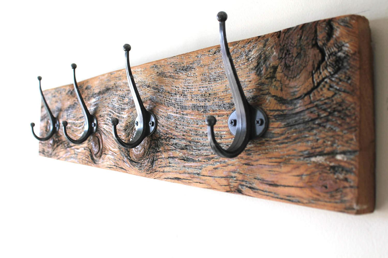 Reclaimed Wood Coat Rack WB Designs - Reclaimed Wood Coat Rack WB Designs