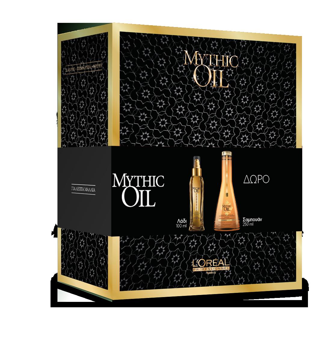 Mythic Oil σετ ( Ελαιο μαλλιών 100ml   Σαμπουάν για λεπτά μαλλιά 250ml) de50e0492ea